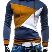 Hoodies Mosaic Tops Fleece Hats Pullover Men Jacket [6528656643]