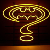 New Question mark Real Glass Retro Neon Art Sign Home Bar Windows Wall Sign L149