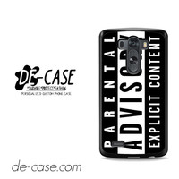 Parental Advisory For LG G3 Case Phone Case Gift Present YO