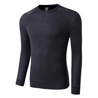 PREMIUM Mens Lightweight Raglan Long Sleeve Crewneck Shirt (CLEARANCE)