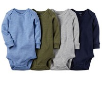 Carter's 4-pk. Solid Bodysuits - Baby Boy, Size: