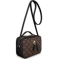 Louis Vuitton Monogram Canvas Saintonge Cross Body Handbag Noir Article: M43555 Made in France
