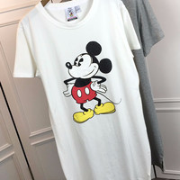 Cartoon Print  Short Sleeves Loose T-Shirt