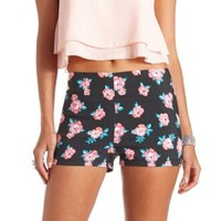 Floral Printed High-Waisted Shorts by Charlotte Russe