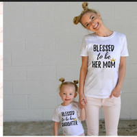 Family matching outfits Mom Mommy and me clothes Letter Short sleeved T-shirt Mother daughter dresses family clothing 2017 nmd