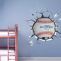Baseball Breaking Wall Stickers, 44.1 x 40.2 Inches | 102 X 112 cm