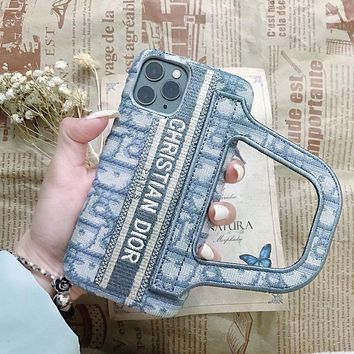 Dior embroidered letters iPhone11 XSmax mobile phone case