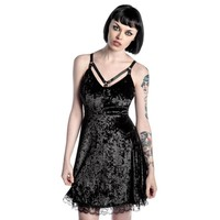 Black Adora Velvet Crush Dress