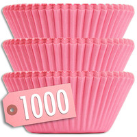 Solid Pink Baking Cups 1000 pk