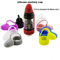 2pcs All-in-one universal silicone sanitary cap and Vape ring band for 19-25mm tank as I JUST S Melo 3 Mini TFV8 Baby Tank E cig