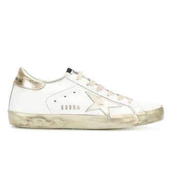 GOLDEN GOOSE SUPERSTAR SNEAKERS WHITE GOLD