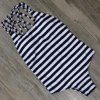 High Cut Bodysuit One Piece Swimsuit