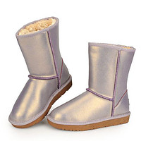 Ugg Hot Seller Of Stylish, Solid-colored Mid-leg Women's Casual Uggs With Wool Shoes Boots