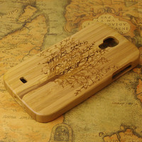 Tree of Life-Wooden Hard Case for Samsung Galaxy S4 case- samsung i9500 Case , Samsung Galaxy wooden case,bamboo case for Galaxy S4 i9500