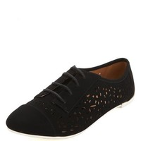 CUT-OUT NUBUCK LACE-UP OXFORD