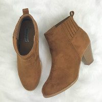 Simply Sweet Tan Suede Booties