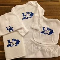 Kentucky Wildcats UK Baby Gift Set