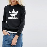 Adidas | adidas Originals Sweatshirt With Trefoil Logo at ASOS