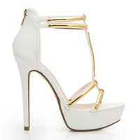 Hit The Bars Strappy Platform Heels