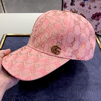 GUCCI New Hot Diamond Presbyopia Men's and Women's Cap Baseball Cap