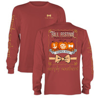 Simply Southern Fall Festival Pumpkin Bow Long Sleeve T-Shirt