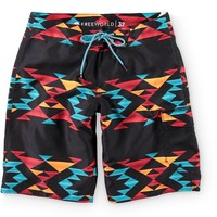 Free World Sky High Aztec 20.5 Board Shorts