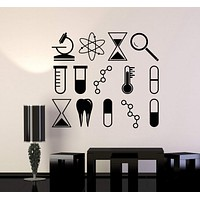 Vinyl Wall Decal Science University School Laboratory Chemistry Stickers Unique Gift (ig4245)