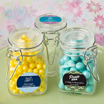 Personalized Gifts: Classic Apothecary Glass Jars - Prom