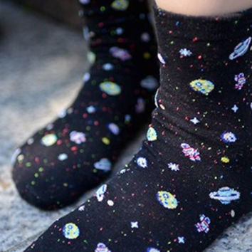 Lost In Space Astronaut Cotton Socks
