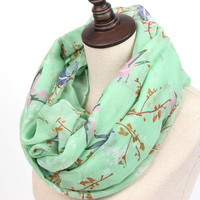 from indiFashion Soft Thin Scarf Women Animal Bird printed Scarves