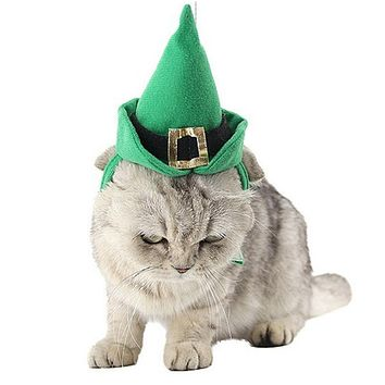 St. Patrick's Day Cat Hat And Collar Set