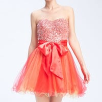 Sean Collection Embellished Strapless Tulle Cocktail Dress | Nordstrom