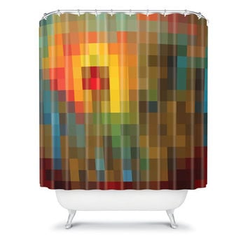 DENY Designs Madart Inc. Polyester Glorious Colors Shower Curtain