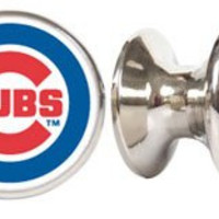 Chicago Cubs MLB Stainless Steel Cabinet Knobs / Drawer Pulls (2-pack)