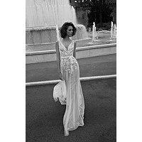 Lace New Arrival Beach V Neck Appliques See Through Tulle Simple Boho Wedding 2016 Sweep Train Bride Dress Gown robe de mariage
