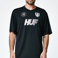 HUF Good Soccer Jersey - Mens Tee - Black