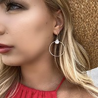 High Standards Gold Hoop Earrings