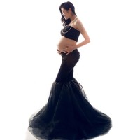 Elegant Maternity Dress Photography Props Pregnancy Clothes Maternity Dresses For pregnant Women Photo Shoot Clothing