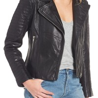 BB Dakota Dominic Leather Moto Jacket | Nordstrom