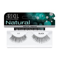 Ardell Natural Lashes -117 Balck, 1 Pair [3X Packs]