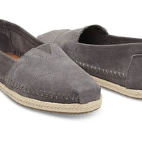 ASH GREY SUEDE WITH ROPE SOLE WOMEN'S CLASSICS