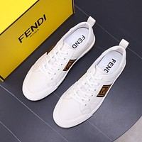 FENDI 2021Men Fashion Boots fashionable Casual leather Breathable Sneakers Running Shoes09070cc