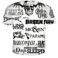 band collage tee