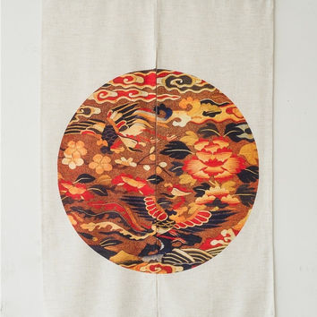 """Japanese Noren Doorway Curtain Tapestry 33.5"""" Width x 47.2"""" Long, Peace and Blessings"""