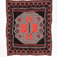 Southwest Knit Throw Blanket- Red One