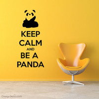 "NEW ""Keep Calm And Be A Panda"" Design Skinz Wall Art Decal Custom Sizes Available"