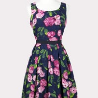 Watercolor Floral Tea Dress