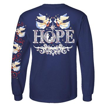 Southern Attitude Preppy Hope Holiday Long Sleeve T-Shirt