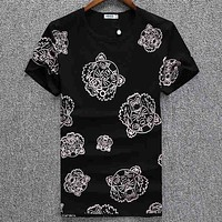 Kenzo  Men Fashion Casual Letter Print Shirt Top Tee