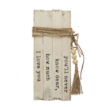 """Wood Block Books - """"You'll Never Know Dear..."""""""